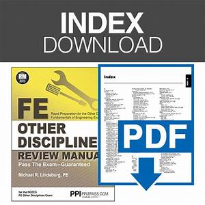 Fe Other Disciplines Review Manual Index