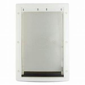 petsafe 13 5 8 in x 23 in x large white plastic pet door With plexiglass dog door