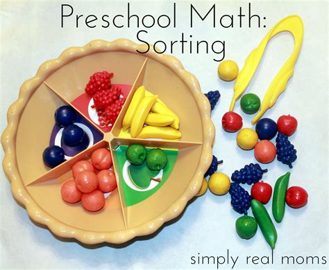 preschool math sorting 247   Preschool Math series this article sorting. Love the patterning article too.1