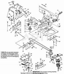 Mtd 14av834p401  1998  Parts Diagram For Drive  Pto