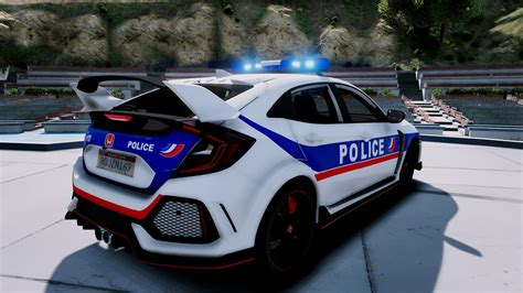 Honda Civic Type R Police Nationale