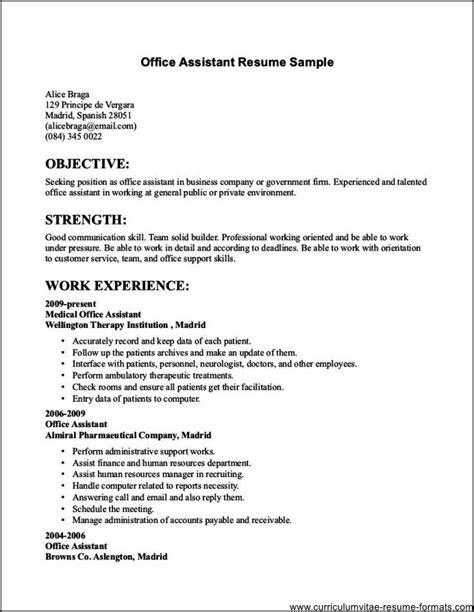 resume sles for office free sles exles