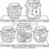 Pantry Coloring Jam Shelf Fruit Doodle Draw Drawing Dreamstime Foods Wood источник Shutterstock French sketch template