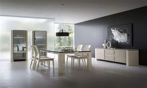 Beautiful bedroom decoration pictures, modern white dining