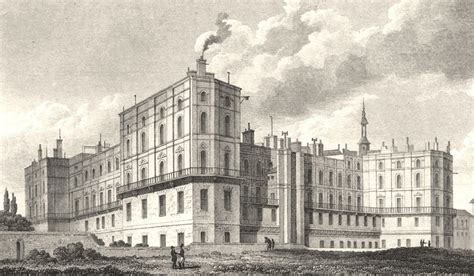 bureau de poste du louvre chateau st germain en laie antique print 1831