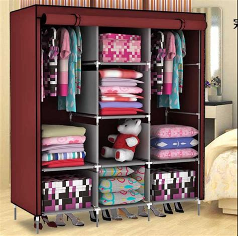 How To Keep Clothes In Cupboard by Portable Closet Storage Organizer Wardrobe Clothes Rack