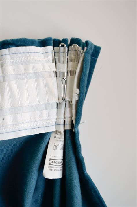 how to pinch pleat ikea curtains using their
