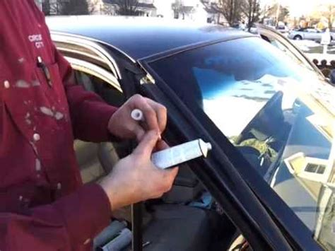 fix windshield water leaks lincoln town car youtube