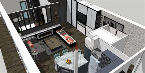 photo cuisine ouverte sur salon cuisine ouverte sur salon 30m2 9 plan salon cuisine