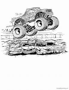 Monster Jam Mutt Coloring Pages. Monster. Best Free ...
