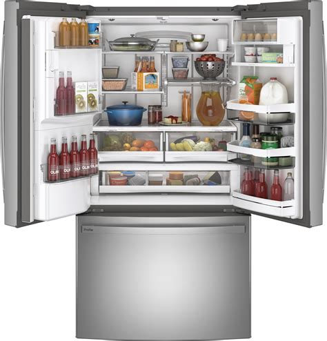 ge profile pfekynfs   cu ft french door refrigerator stainless steel