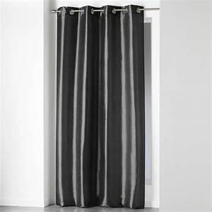 Rideau Gris Anthracite : rideau oeillets shana 140x240cm gris anthracite ~ Teatrodelosmanantiales.com Idées de Décoration