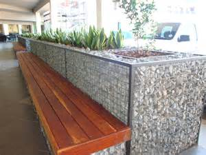 cubedec gabion planter and bench combo badec bros