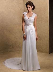 sexy sheath sweetheart cap sleeve open back lace chiffon With chiffon and lace wedding dress