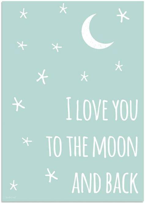 bolcom kinderkamer poster love moon