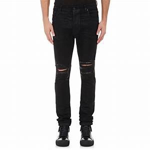 En noir Destroyed Jeans in Black for Men | Lyst