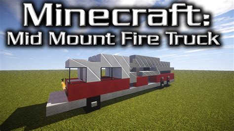 minecraft truck stop minecraft mid mounted fire truck tutorial designed by