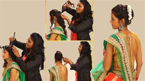 indian simple hairstyles  wedding    twist