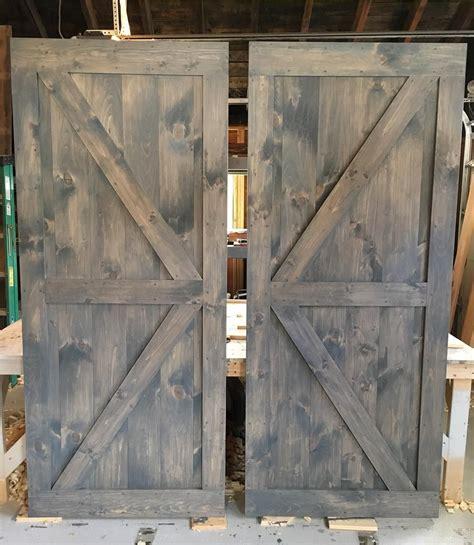 pair  british brace barn doors  classic grey