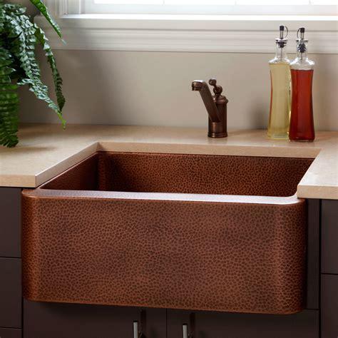 fiona hammered copper farmhouse sink kitchen