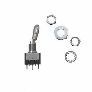 Miniature Locking Toggle Switch  Spst  On  On