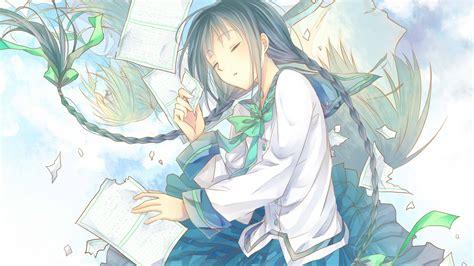 Download 1920x1080 Wallpaper Sleep Cute Anime Girl Artwork Full Hd Hdtv Fhd 1080p
