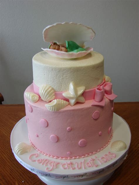 Minnie Mouse Decorations Baby Shower by My Cake Hobby Mermaid Baby Shower Cake