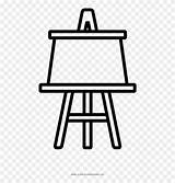 Easel Pinclipart sketch template
