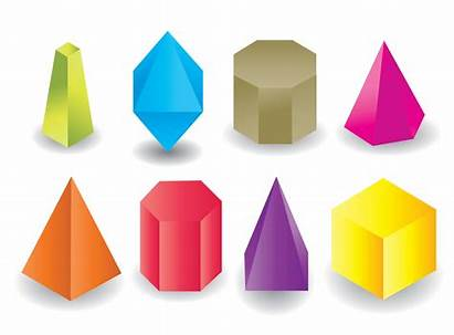 Prism Shape Geometric Colored Vector Clipart Graphics