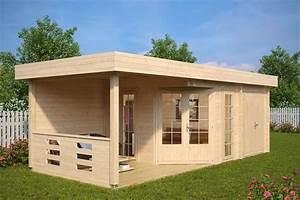 Gartenhaus Mit Terrasse : gartenhaus mit ger teraum paula 12 5m 40mm 3x7 hansagarten24 ~ Whattoseeinmadrid.com Haus und Dekorationen