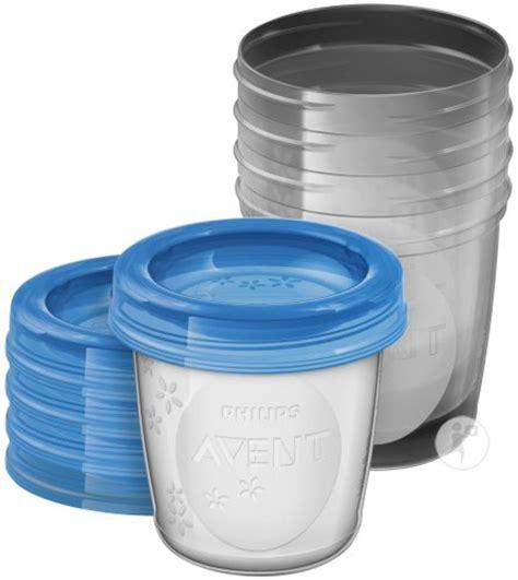 avent via pots de conservation pour lait maternel