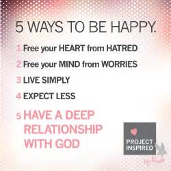 5 ways to be happy project inspired