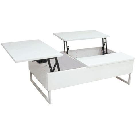 table basse rectangulaire dot 233 e de 2 plateaux relevables une maison toute blanche