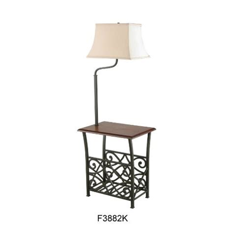end table with attached l and magazine rack side tables with ls attached
