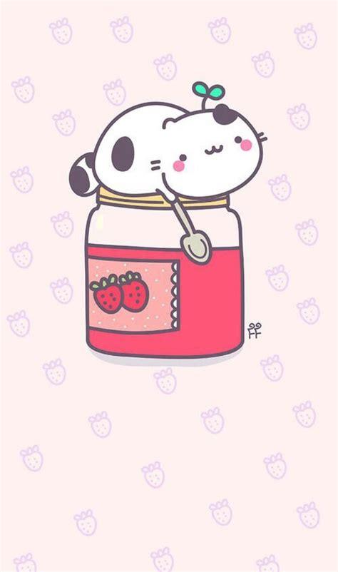 background cat cute food jam kawaii kitty