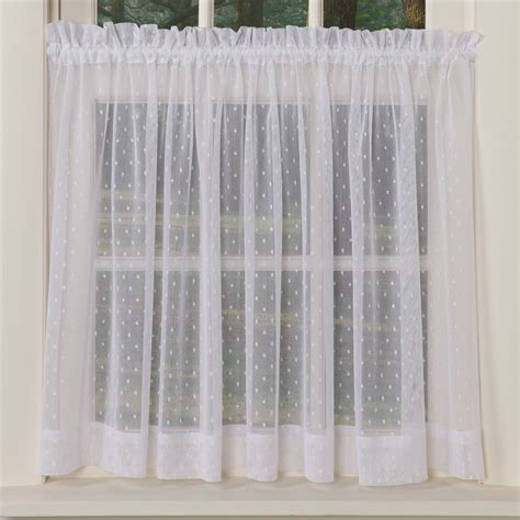 Dotted Swiss Kitchen Curtains by Dotted Sheer Curtains Sturbridge Yankee Workshop
