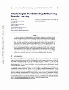 Visually Aligned Word Embeddings For Improving Zero