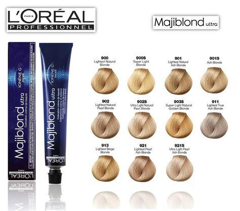 loreal majiblond ultra hilift hair color chart