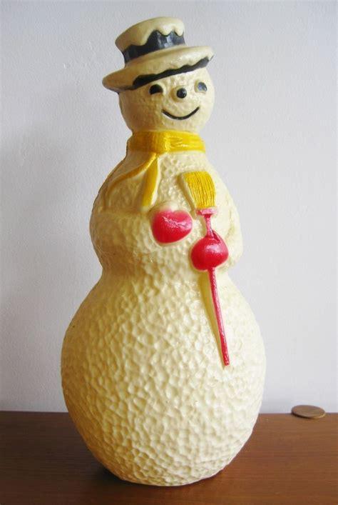vintage  plastic blow mold light   snowman