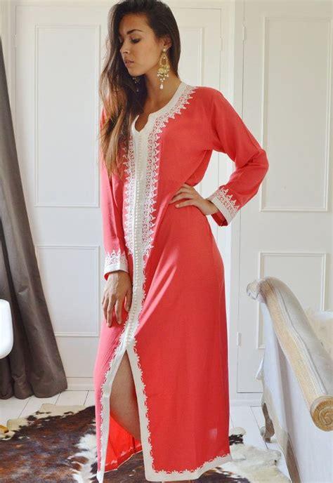 Kalvita Kaftan By Gallery Nabila winter salmon pink caftan maxi dress karima by