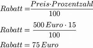1 Prozent Regelung Berechnen : rabatte berechnen formel beispiele und dreisatz ~ Themetempest.com Abrechnung