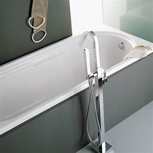 Mitigeur Sur Baignoire : ensemble mitigeur de baignoire sur colonne au sol cubique ~ Edinachiropracticcenter.com Idées de Décoration
