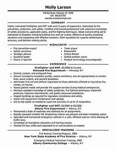Firefighter resume examples emergency services sample for Firefighter resume