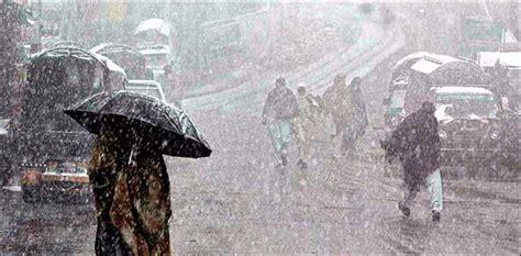 severe cold rainy weather rule upper parts  pakistan