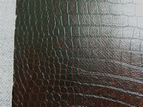 Upholstery Faux Leather by New Vinyl Croco Brown Soft Faux Leather Upholstery Fabric