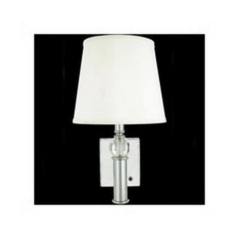 chrome 1 light wall sconce with shade ebay