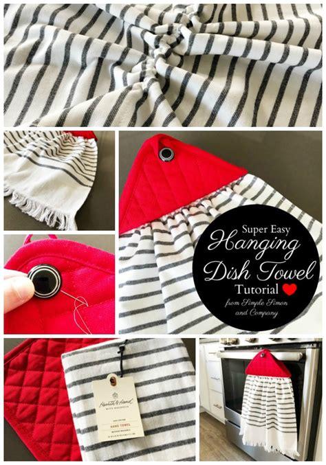 farmhouse style hanging kitchen towel tutorial  polka dot chair