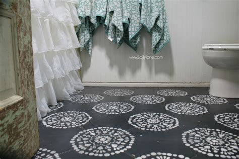 Hate your tile floors? Paint them!   Lolly Jane
