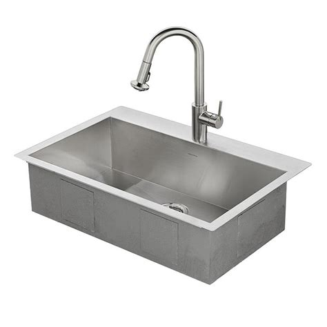 stainless steel kitchen sinks shop american standard memphis 33 in x 22 in single basin