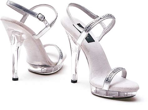 Ellie M-diamond Platform 5 Inch High Heels Strappy Sandals